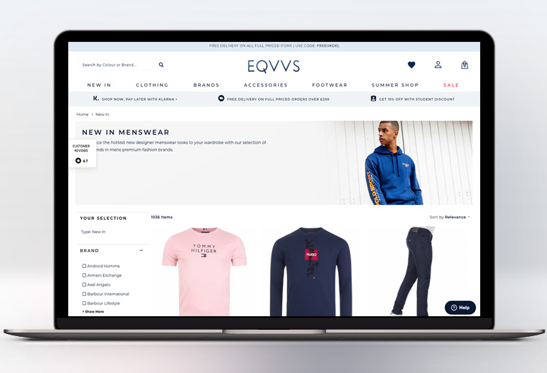 EQVVS sells the latest designer clothing, footwear, & accessories for men.