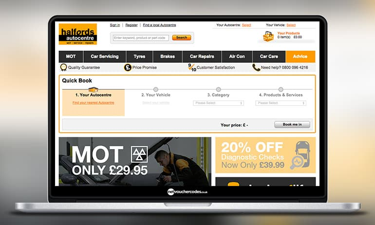 Halfords car parts promo code