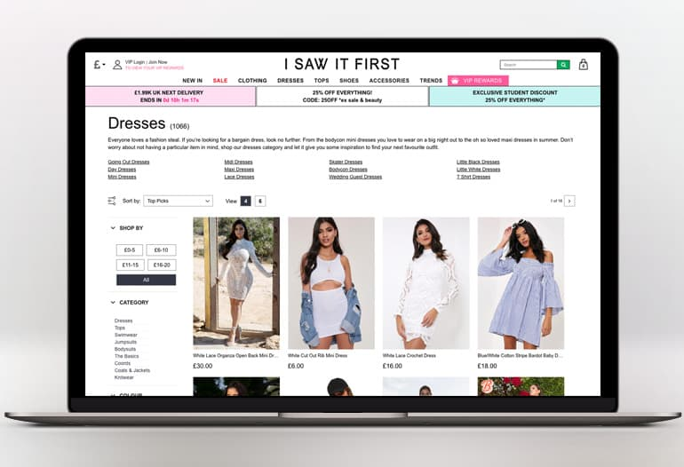 Shop the latest women's fashion at I Saw It First. 100s of new styles every week! Clothes, Dresses, Shoes & Accessories.