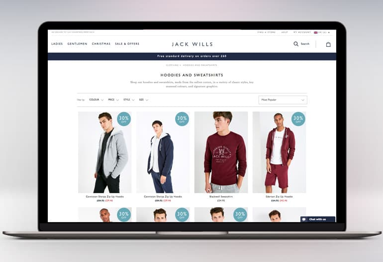 Branded clothing from Jack Wills isn't MoneySaving, but if you'll shop there anyway you can cut the cost by going online to the official Jack Wills Outlet*. The outlet shifts past seasons' stock with discounts of up to 60% off the normal full price. Delivery's £