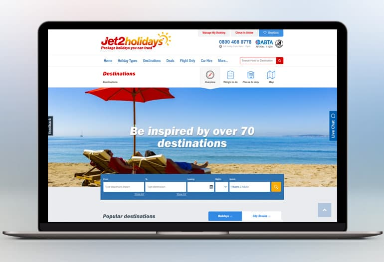 Jet2Holidays destinations