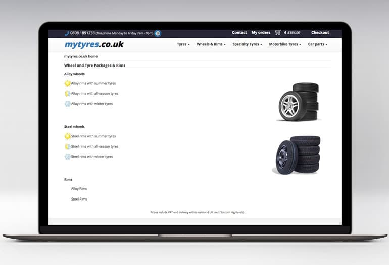 mytyres wheel and tyres