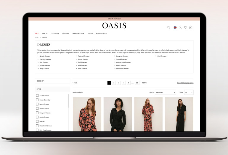 Oasis brings the latest high street fashion online from dresses to boots, jeans to accessories. Shop the latest styles in womens fashion today.