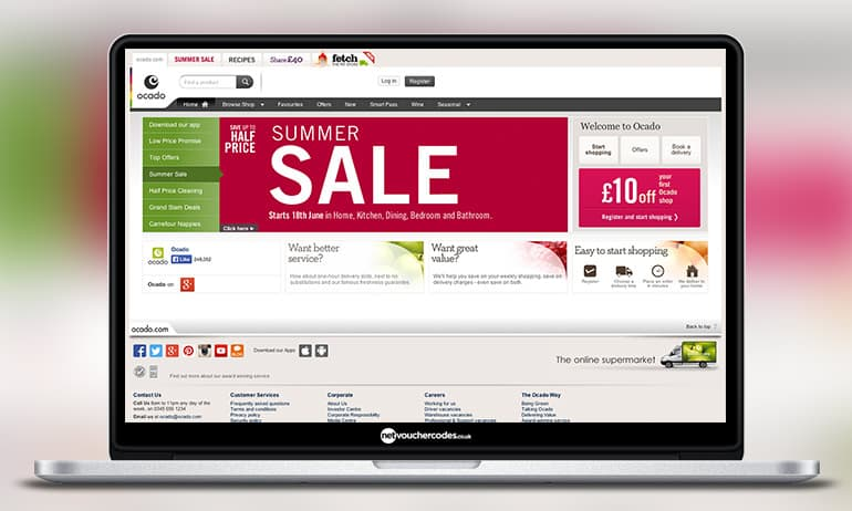Ocado vouchers coupons existing customers