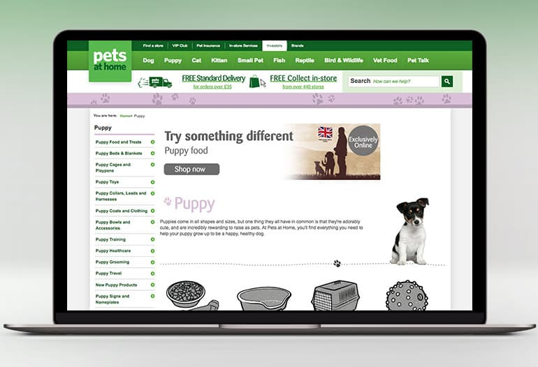 All your Pet Shop needs at Pets At Home
