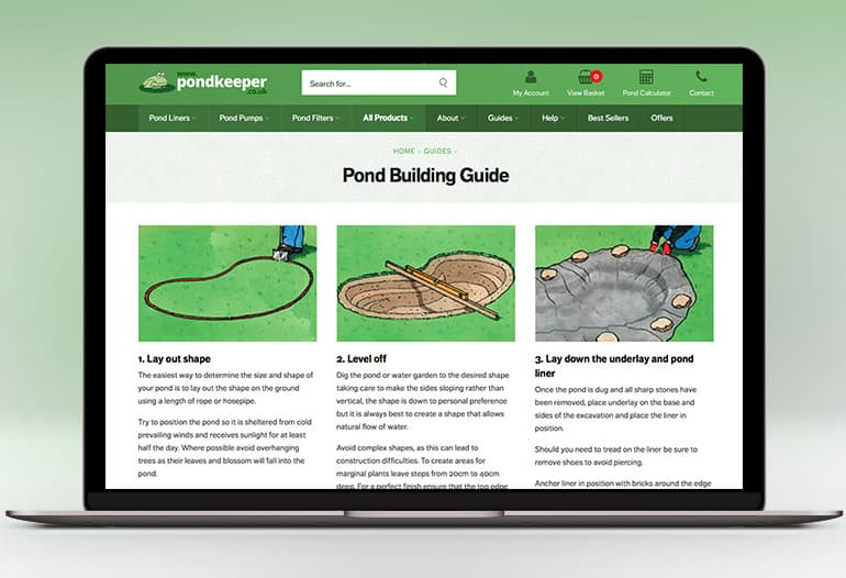 Pond liners, pond pumps, pond filters and more