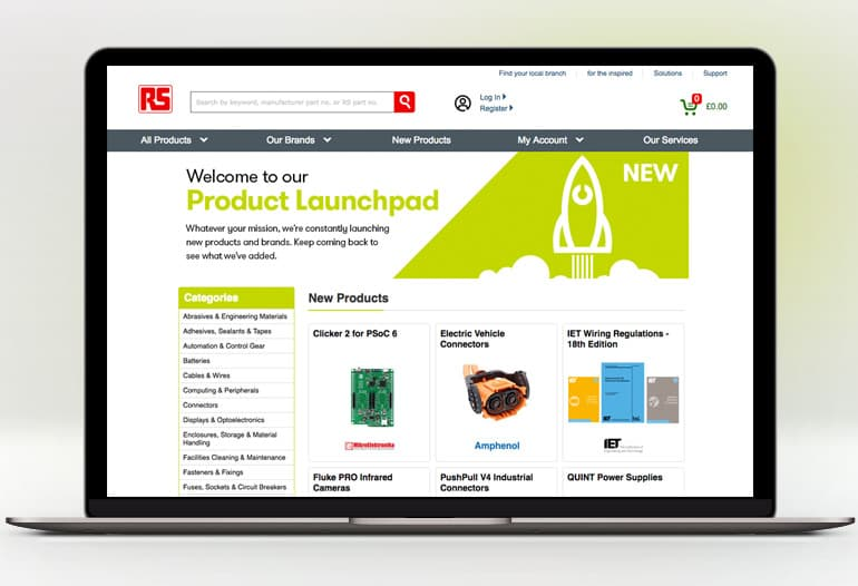 rs components new products