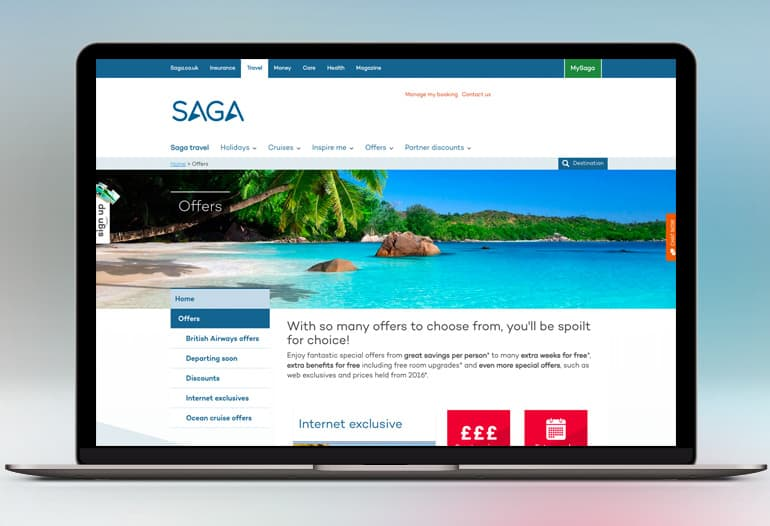 saga offers