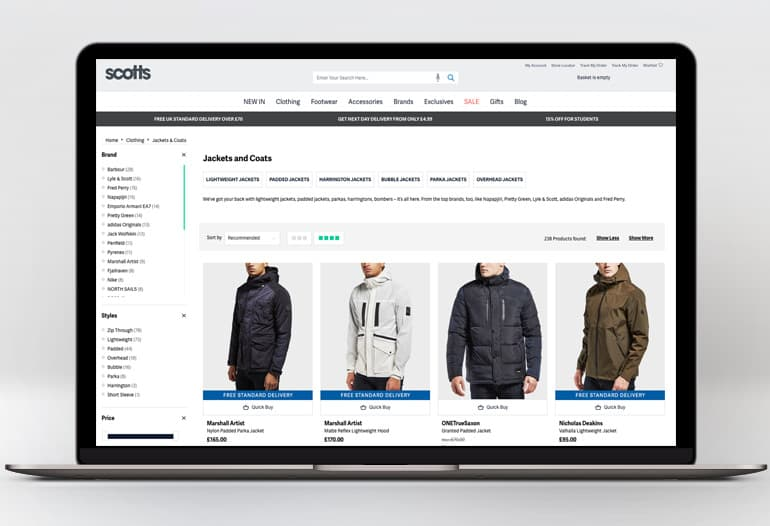 scotts coats and jackets