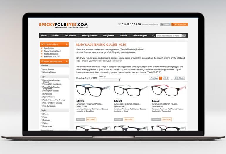 specky four eyes reading glasses