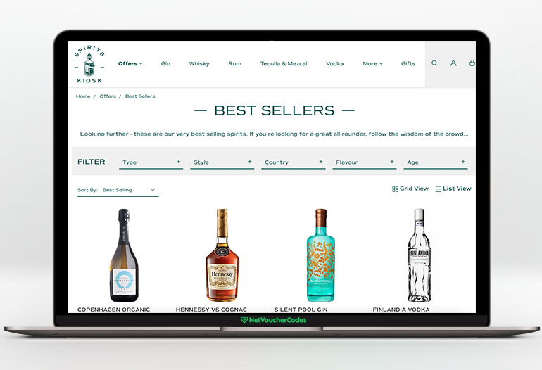 Spirits Kiosk is a one-stop shop focussed on delivering delicious spirits.