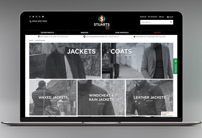 stuarts london coats and jackets