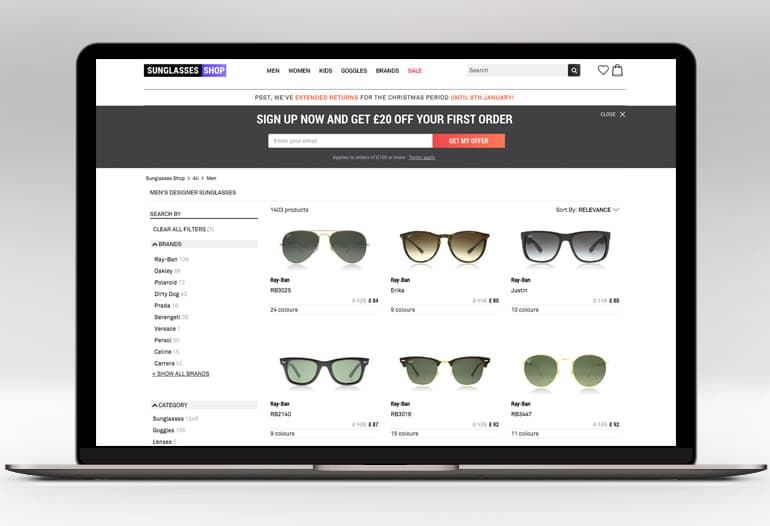 0a65d80f038 SUNGLASSES SHOP Voucher Codes 2019 → 20% OFF