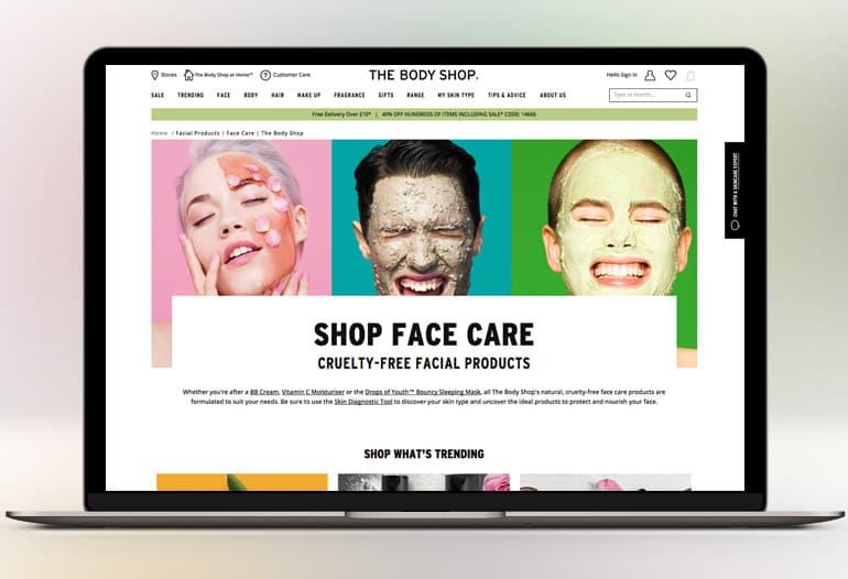 the body shop face care