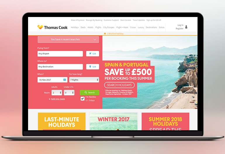 Find a Thomas Cook Holiday