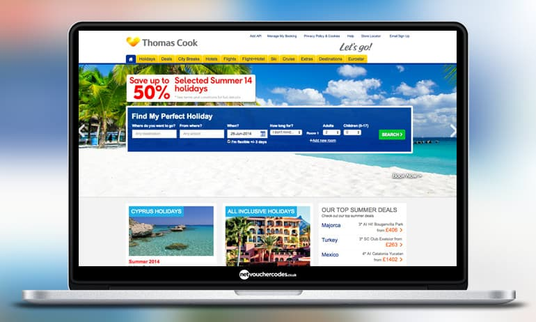 Thomas Cook Hotel Only Bookings