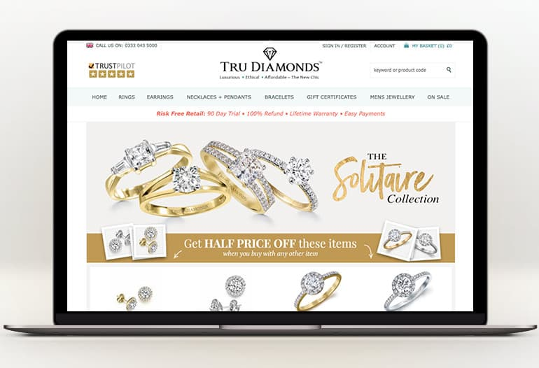 tru diamonds solitaire