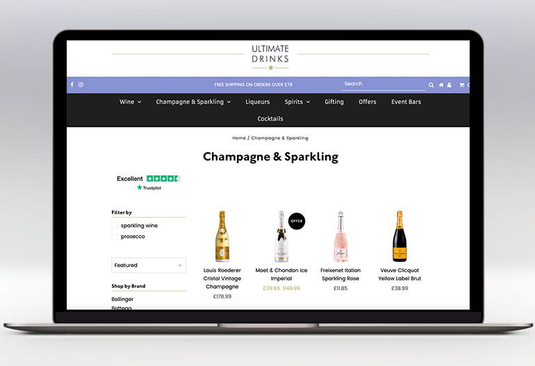 Your one stop shop for all spirits, champagne & wine.