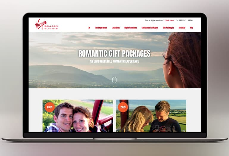 virgin balloon flights romantic gift packages