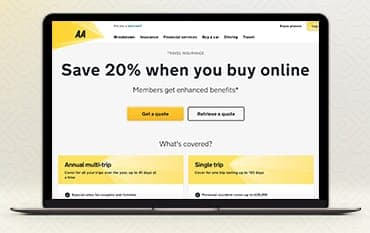 AA Travel Insurance store front