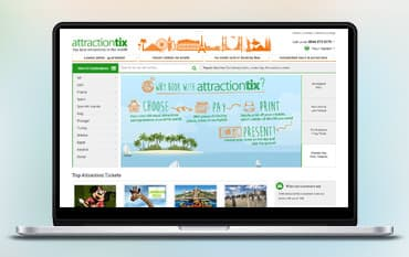 Attractiontix store front