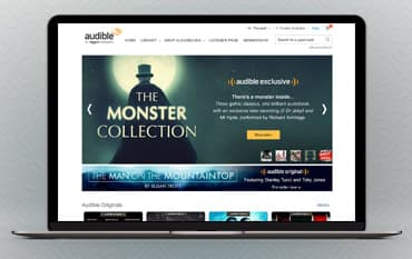 Audible UK store front