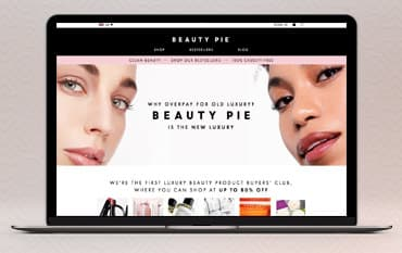 Beauty Pie store front