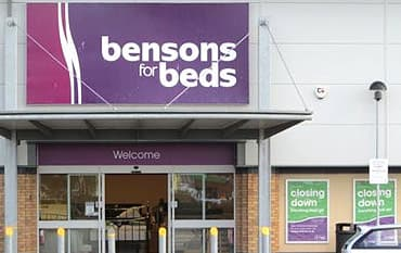 Bensons for Beds store front