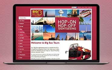 Big Bus Tours store front