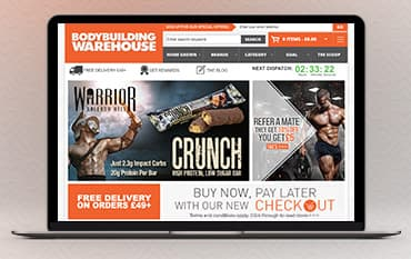 Bodybuilding Warehouse store front