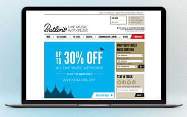 Butlins Live Music Weekends store front