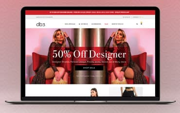 DB3 Online store front