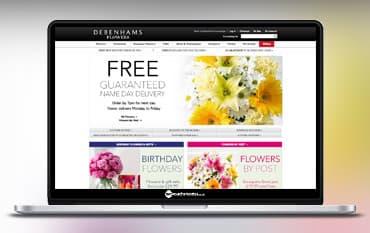 Debenhams Flowers store front
