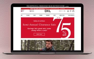 DXL store front