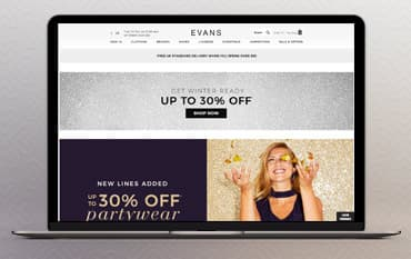 Evans store front