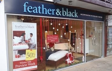 Feather and Black store front