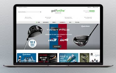 Golfonline store front