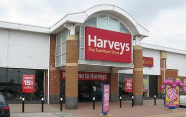 Harveys store front