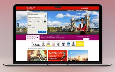 Hotels.com store front
