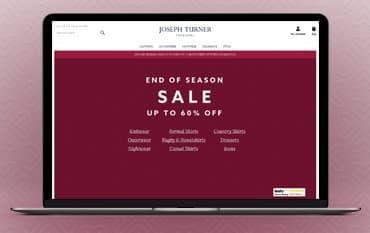 Joseph Turner Shirts store front