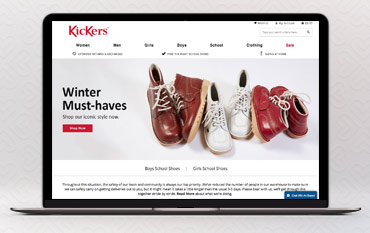 Kickers store front