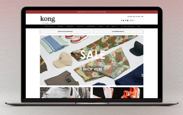 Kong Online store front