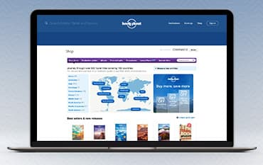 Lonely Planet store front