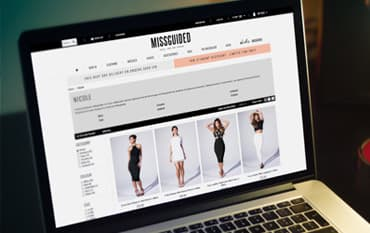Missguided store front