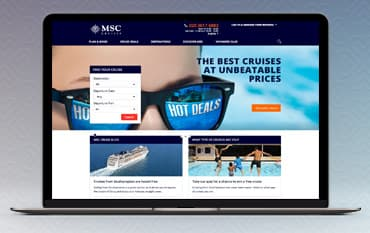 MSC Cruises store front