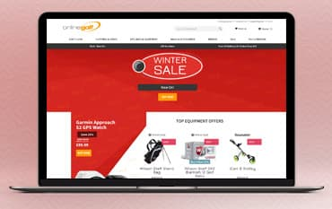 Online Golf store front