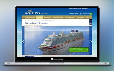 P&O Cruises store front