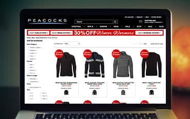 Peacocks.co.uk store front