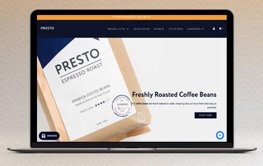Presto Coffee store front