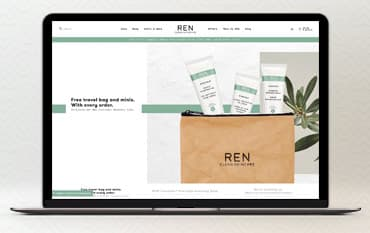 REN Clean Skincare store front